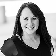 Black and white photo of consultant Colleen Rippey