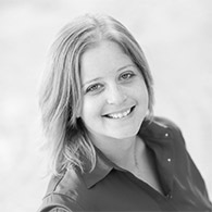 Black and white photo of consultant Kristin Brindley