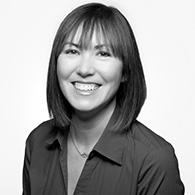 Black and white photo of consultant Sarah Mashburn
