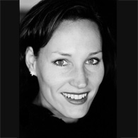 Black and white photo of consultant Sibylle Stipp