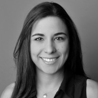 Black and white photo of consultant Lori Reyna Landry