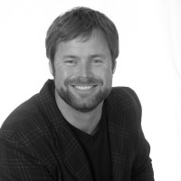 Black and white photo of consultant Shane Huber