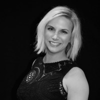Black and white photo of consultant Leeanne Storm