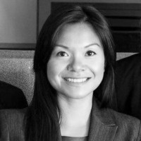 Black and white photo of consultant Sally Ngo