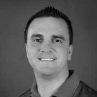 Black and white photo of consultant Russell Wimbrough