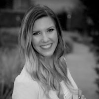 Black and white photo of consultant Whitney Allen Leirer