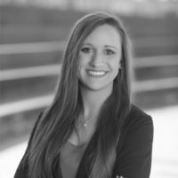 Black and white photo of consultant Kristen Inman