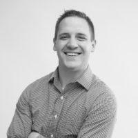 Black and white photo of consultant Matt Hawkes