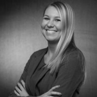 Black and white photo of consultant Bree Sallee