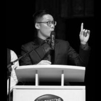 Black and white photo of consultant Wilson Wong