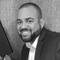 Black and white photo of consultant Danny Guerrido