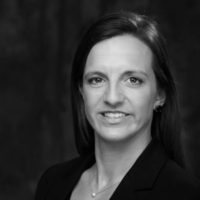 Black and white photo of consultant Katie Heaney