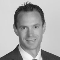 Black and white photo of consultant John Klobe
