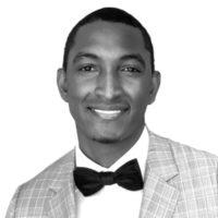 Black and white photo of consultant Orlando Beersingh