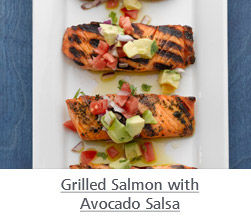 Grilled Salmon Avocado Salsa