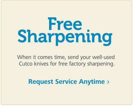 Free Cutco Sharpening