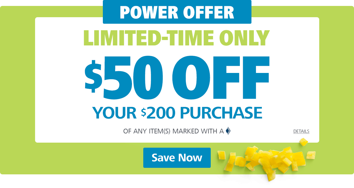 For a limited time, save  on your  purchase