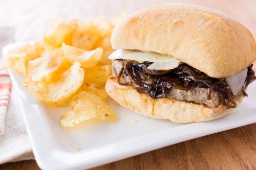 Steak Sandwiches with Caramelized Onions and Mushrooms