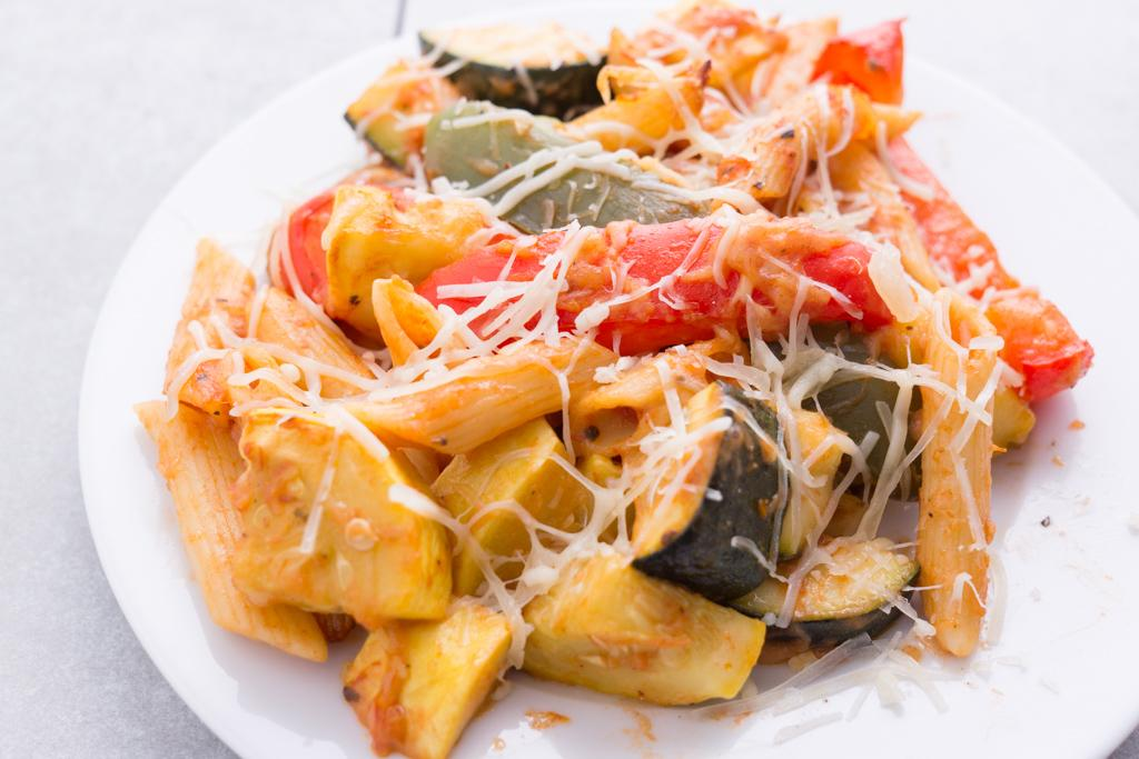 Baked Penne with Summer Vegetables