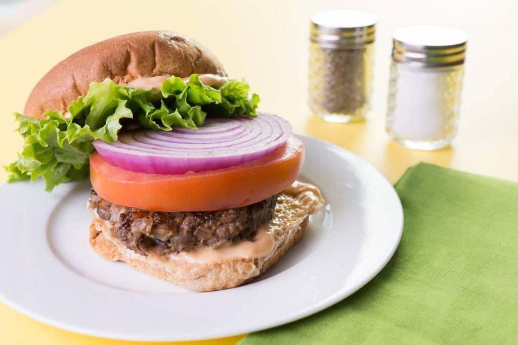 Mushroom-Beef Burgers
