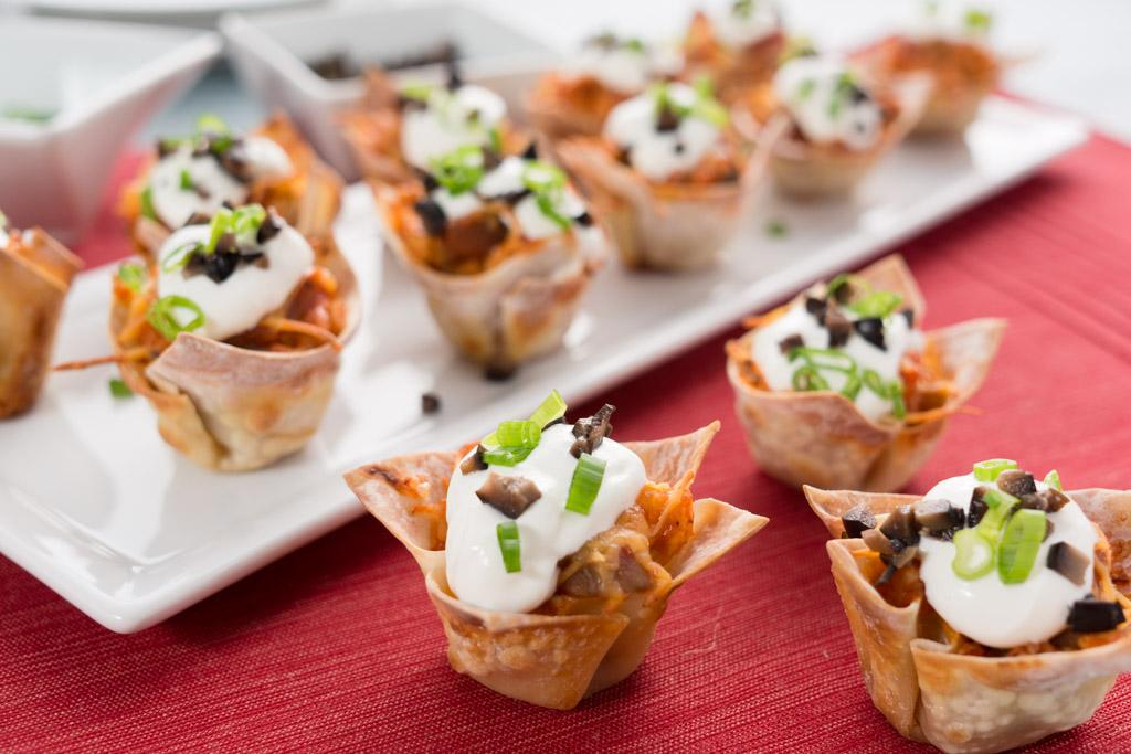 Muffin Tin Chicken Taco Cups