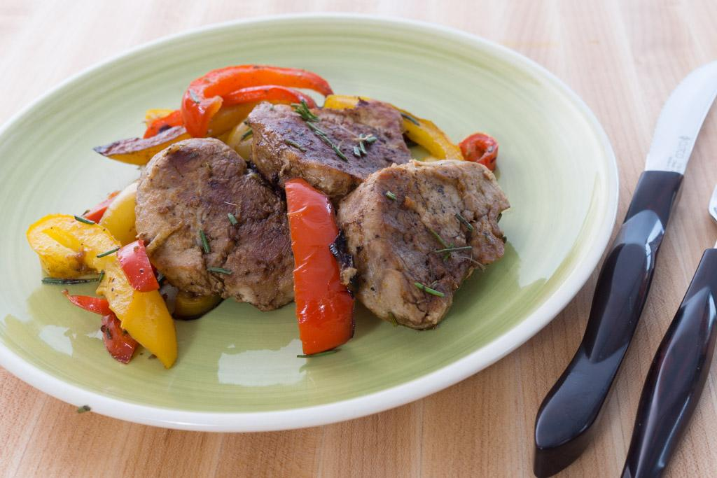 One-Skillet Pork Tenderloin with Peppers
