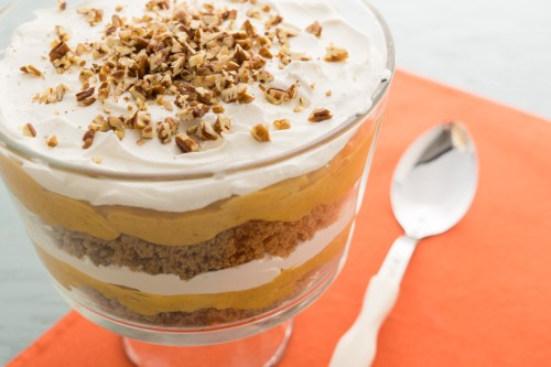 Festive Pumpkin Gingerbread Trifle