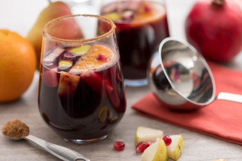 Holiday Sangria With Winter Fruits