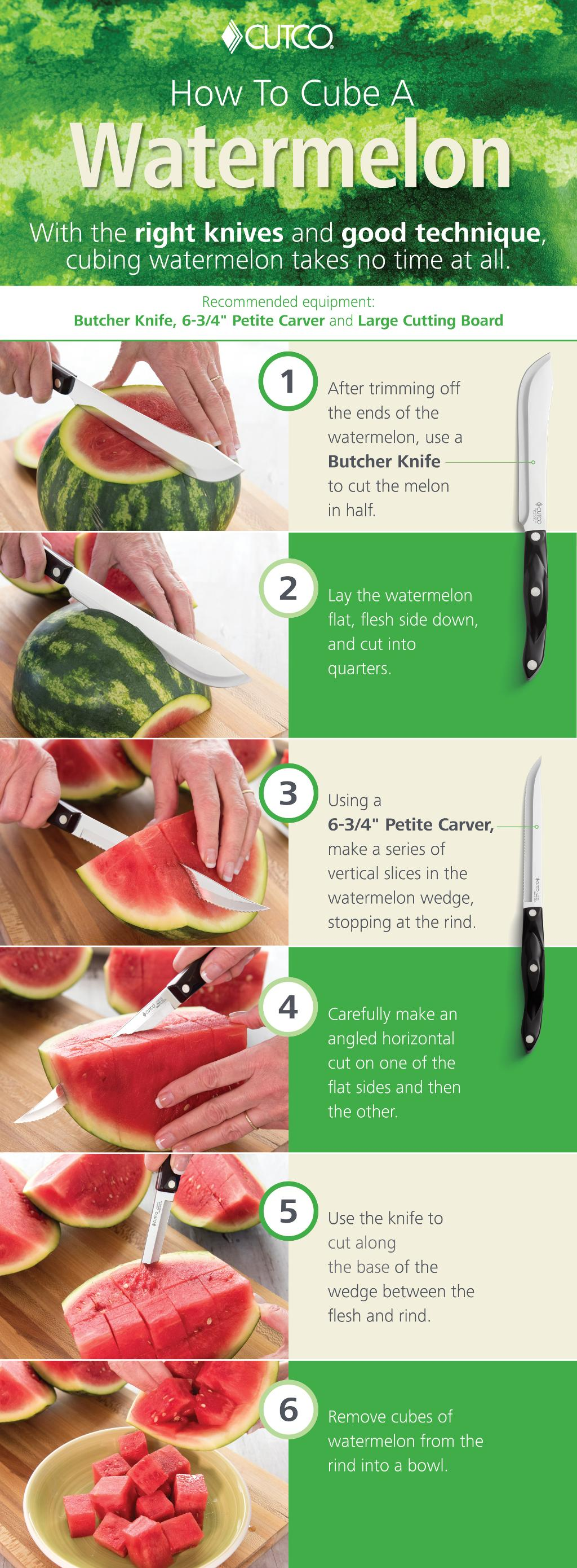 How to cut up watermelon into cubes