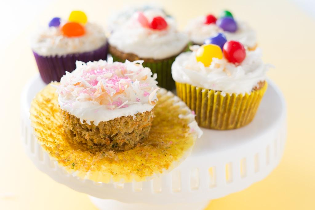 Carrot Zucchini Pineapple Cupcakes