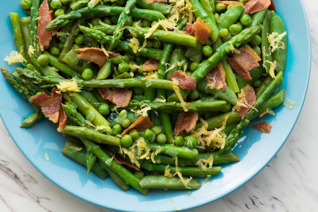 Asparagus and Peas with Tarragon Vinaigrette