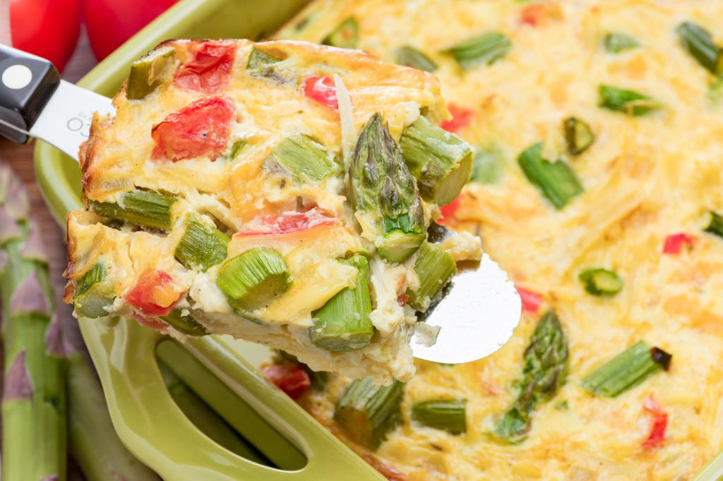 Asparagus Potato Breakfast Casserole