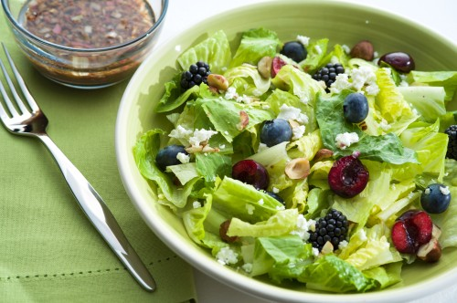 Berry and Hazelnut Salad with Balsamic Lime Dressing
