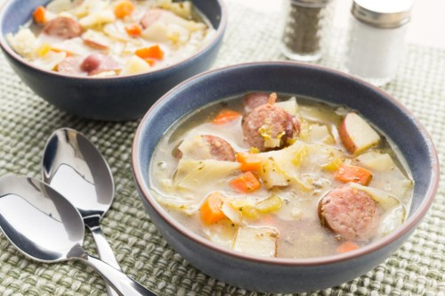 Cabbage Soup with Sausage and Potatoes