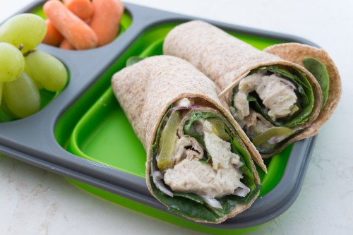 Chicken Wrap for a Portable Lunch