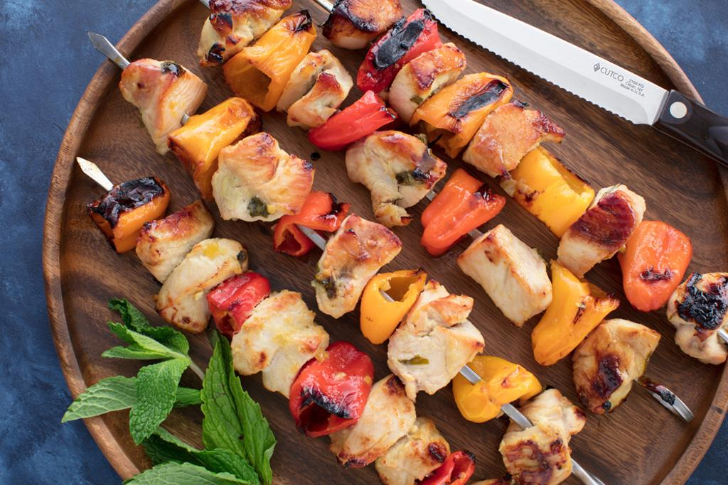 Preserved Lemon Chicken and Pepper Kabobs