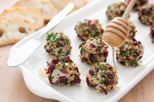 Cranberry Goat Cheese Truffles