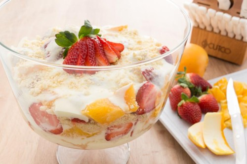 Strawberry and Orange Trifle