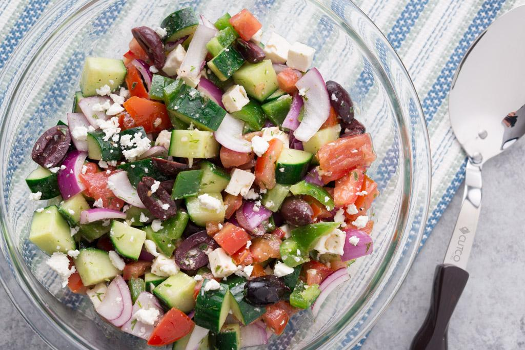 A Light Summer Side: Greek Cucumber And Tomato Salad