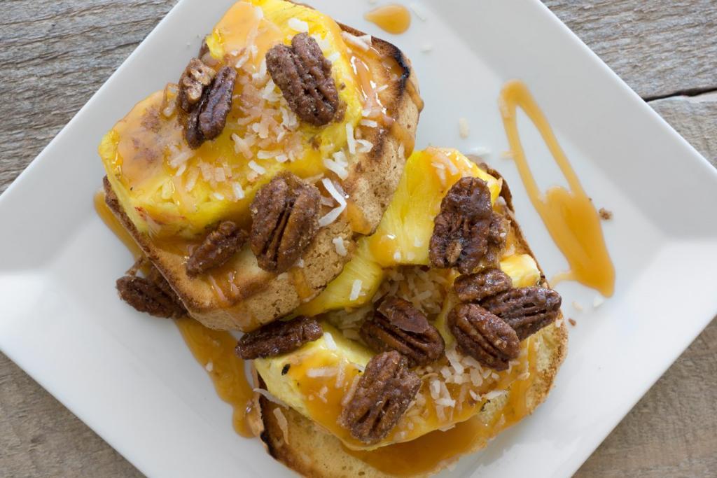 Grilled Caramel Pineapple Dessert