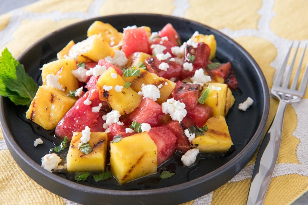 Grilled Pineapple and Watermelon
