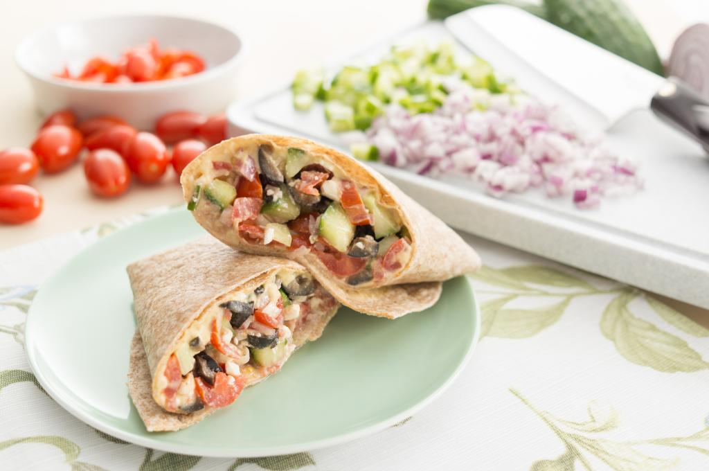 Vegetable and Hummus Wrap