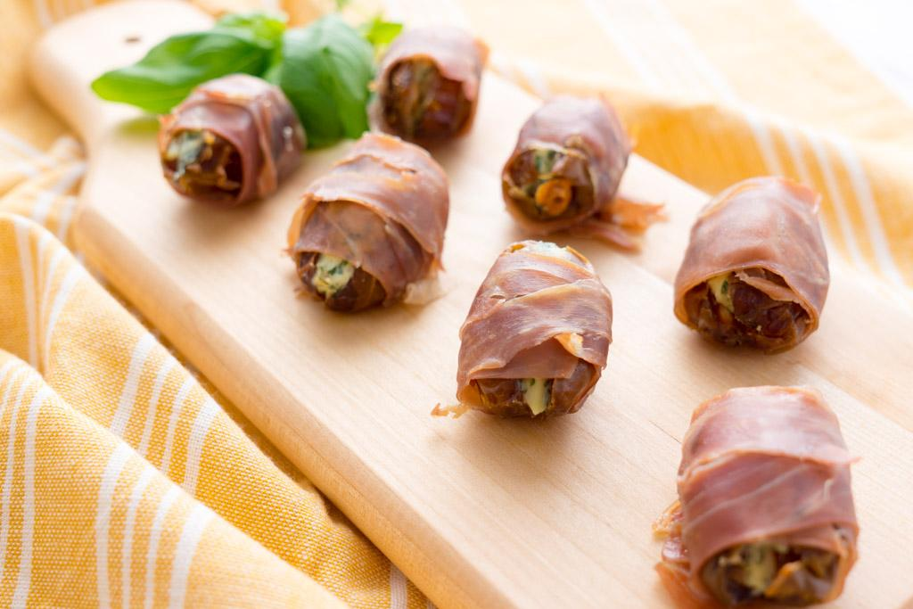 Stuffed Dates with Prosciutto