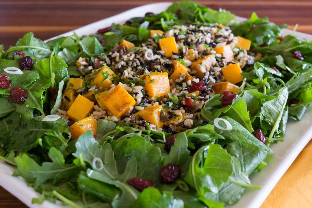 Roasted Squash, Wild Rice and Kale Salad