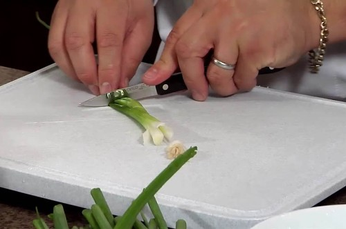 Scallion Garnishes