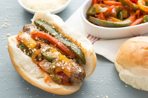 Slow-Cooker Italian Sausage, Pepper and Onion Sandwiches