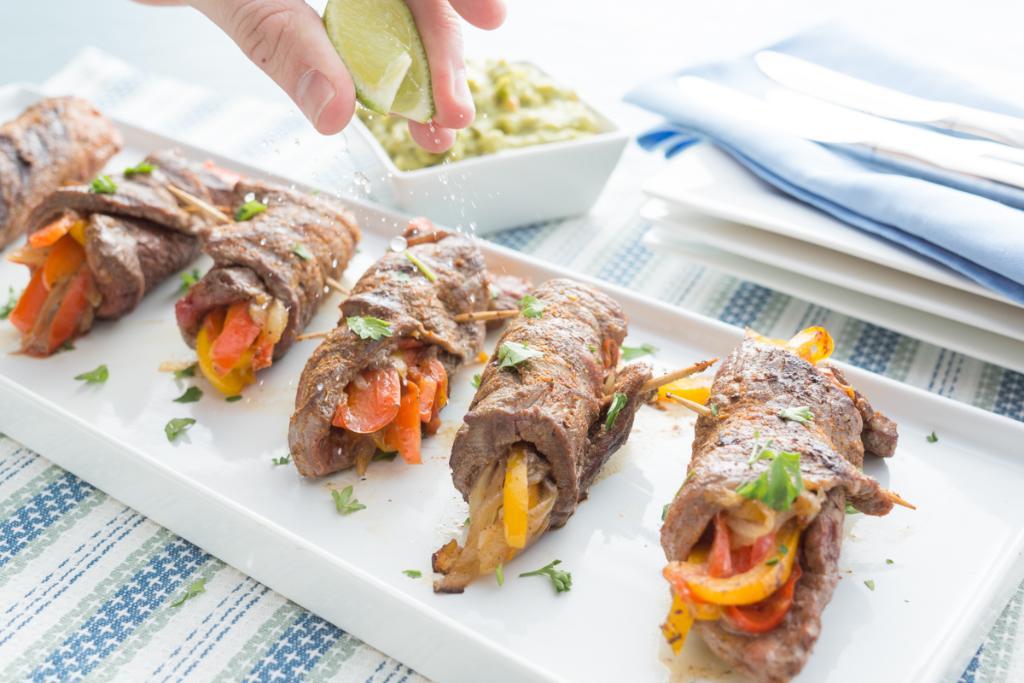 Steak Fajita Roll-Ups Appetizer
