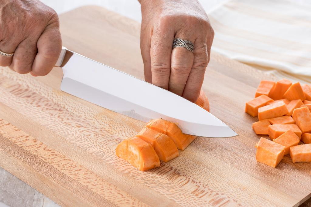 How to Cut a Sweet Potato