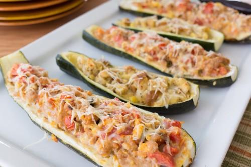 Ground Turkey Stuffed Zucchini Boats