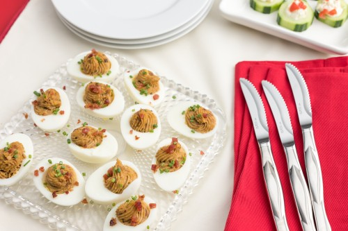 Deviled French Onion Eggs